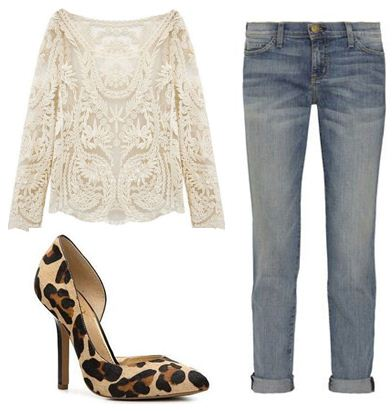 Leopard with Jeans